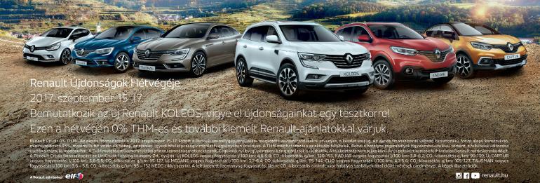 Renault Újdonságok Hétvégéje
